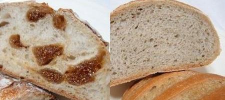 ボンボランテ:もち麦のパン & いちぢくのカンパーニュ