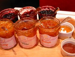 jam, honey, choco paste...