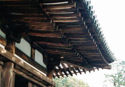 歴史を感じさせる屋根